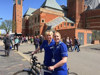Nurses don't let Shakespeare's birthday celebrations get in the way of patient care