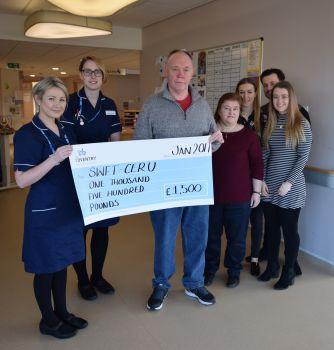 Recovering patient raises money for specialist unit
