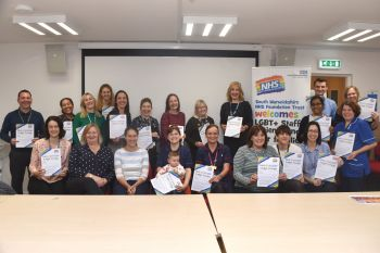 NHS rainbow badges worn with pride in Warwickshire