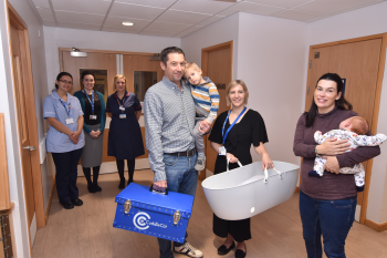 Local business donates cuddle cot to Warwick Hospital