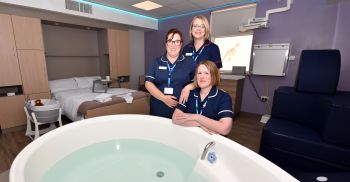 First class birthing centre for women and families at Warwick Hospital