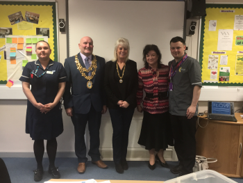 Mayor and Mayoress of Nuneaton learn more about End of Life care in North Warwickshire