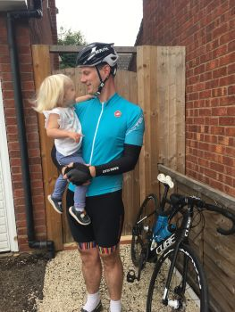 Father pedals for pounds