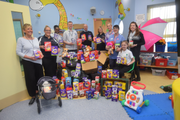 Basket load of Easter Eggs donated to Children's ward