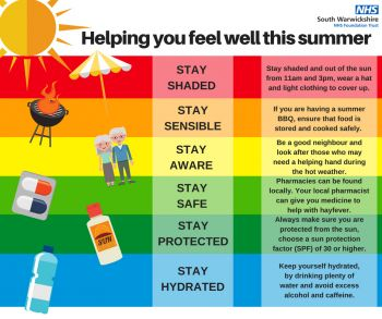 People in Coventry and Warwickshire urged to choose the right care during heatwave