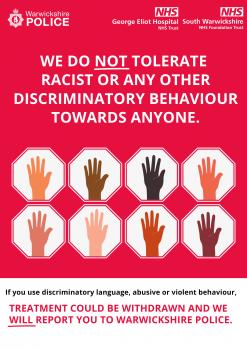 Warwickshire hospitals toughen stance on abusive behaviour