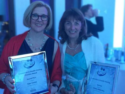 Sam and Diane with Health Visting Awards (1).jpg